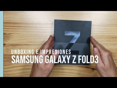 Samsung Galaxy Z Fold3 - Unboxing en Español - Primeras impresiones luego del lanzamiento.