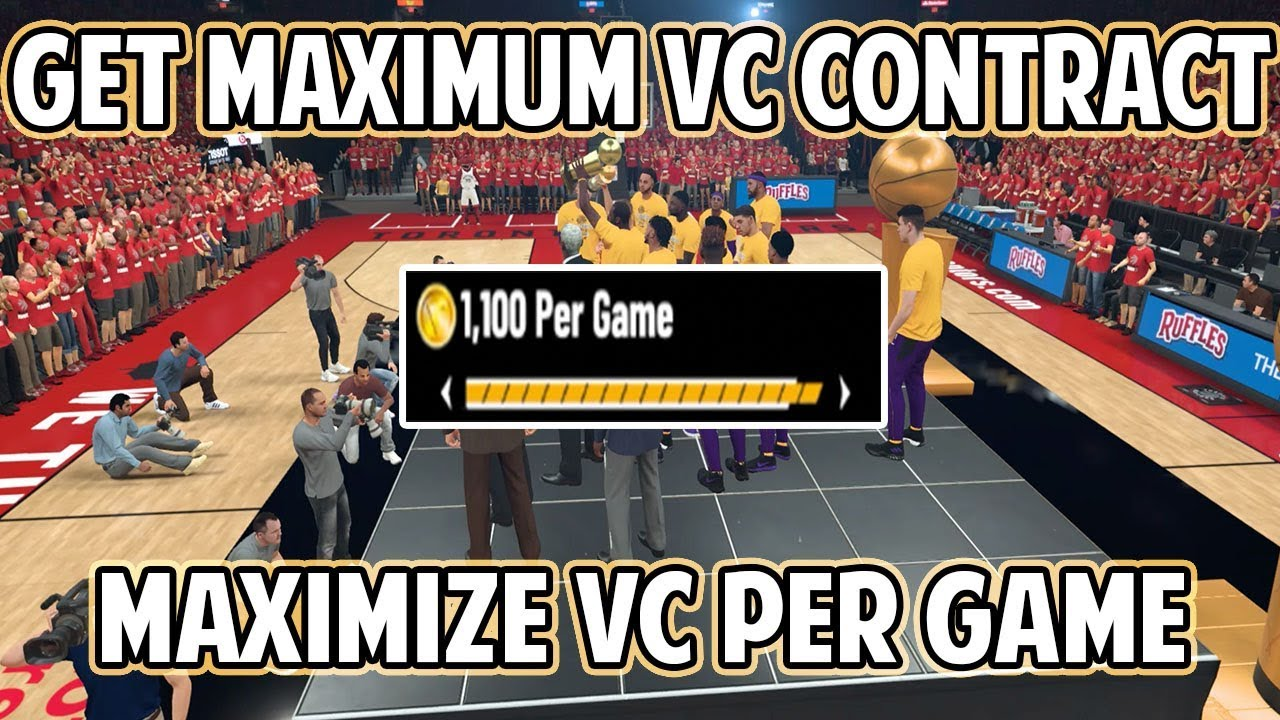 NBA 2K19 HOW TO GET MAX VC CONTRACT IN MYCAREER! MAX OUT VC PER GAME!
