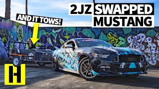 A 2JZ Swapped Ford Mustang - Built in Just 30 Days for Drift Week. And it Tows, Too!