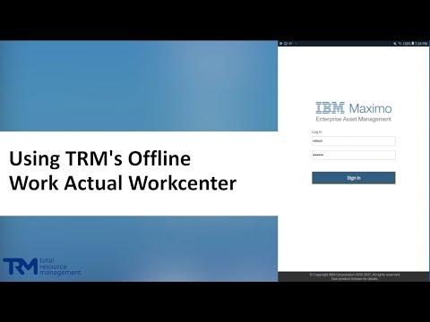 Maximo Software Tutorials - Custom Offline Work Actuals Workcenters thumbnail