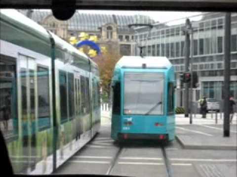 Tram riding in Frankfurt (2008) - Straßenbahn fahren in Frankfurt - Villamos - VGF - RMV