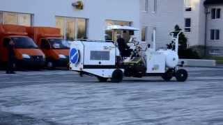 видео машины для дорожной разметки
