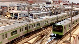 TOMIXTNOS Nゲージ鉄道模型自動運転レイアウト JR東日本 山手線 京浜東北線