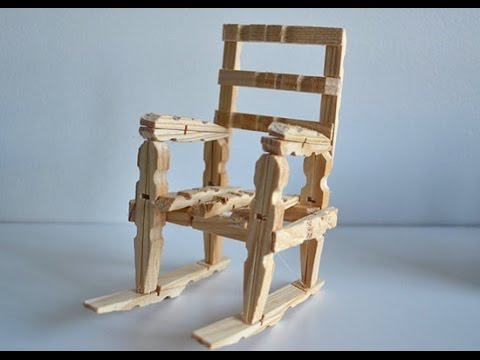 how to make a wood rocking chair with clothespins tutorial. Black Bedroom Furniture Sets. Home Design Ideas