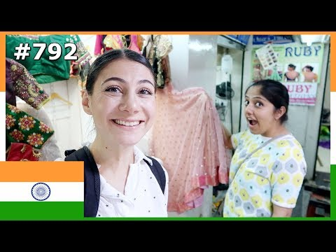 BANGALORE COMMERCIAL STREET SAREE SHOPPING INDIA DAY 792 | TRAVEL VLOG IV