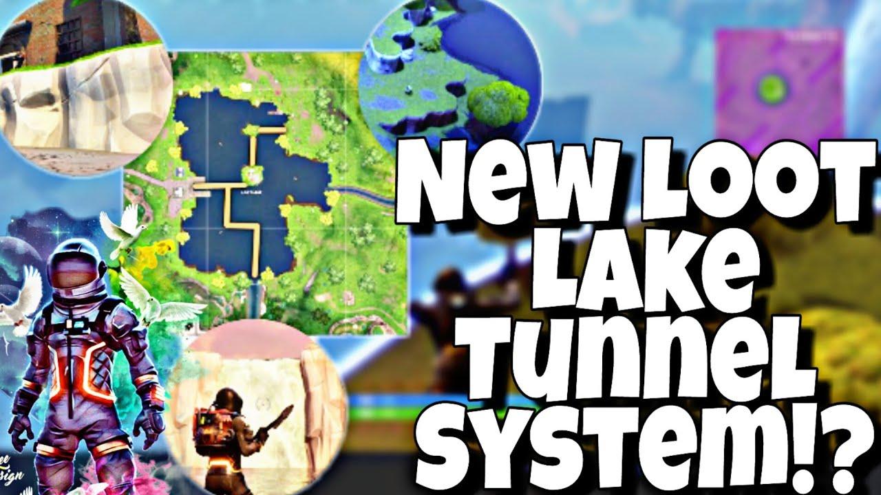 new fortnite underground loot lake tunnel system - fortnite underground tunnel