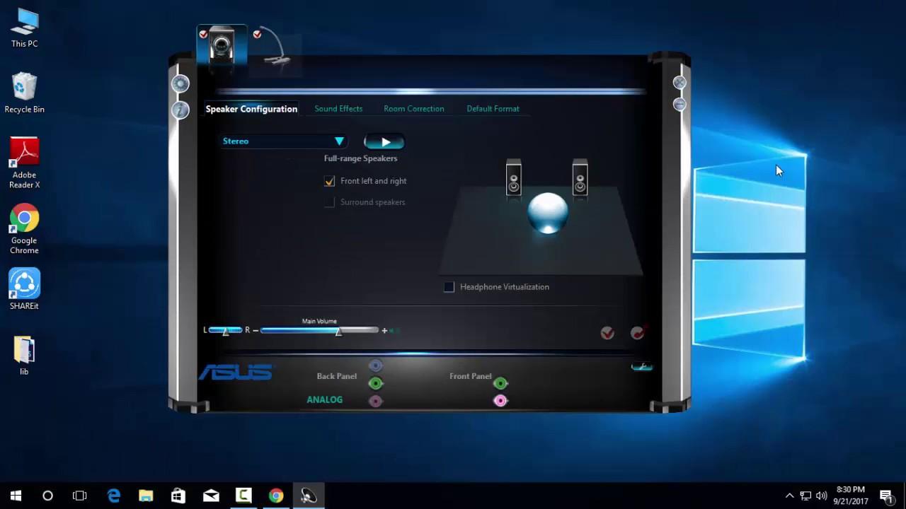 realtek hd audio manager windows 10 no bass