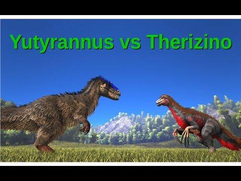 Yutyrannus vs Therizinosaurus || ARK: Survival Evolved || Cantex