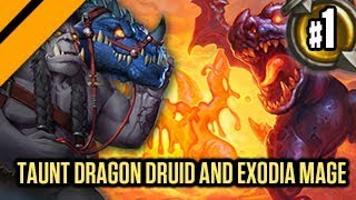 Hearthstone: The Witchwood -Taunt Dragon Druid & Exodia Mage P1