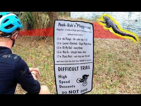 The Trail Sign Doesn't Mention GATORS!!! // Mountain biking Balm Boyette Ridgeline Trail in Florida