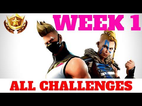 Fortnite WEEK 1 CHALLENGES GUIDE - Risky Reels Treasure Map (Season 5)