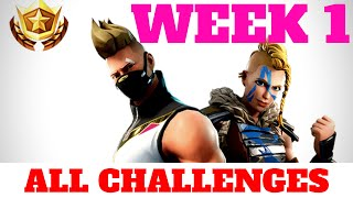 Fortnite WEEK 1 CHALLENGES GUIDE - Risky Reels Treasure Map (Season 5)