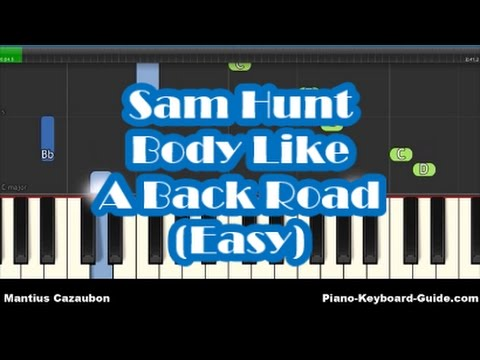 Sam Hunt - Body Like A Back Road Easy Piano Tutorial - How To Play