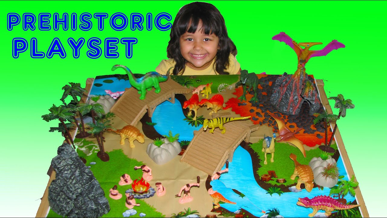 Dinosaur Prehistoric Playset 100 Pieces Surprise Toy For 3