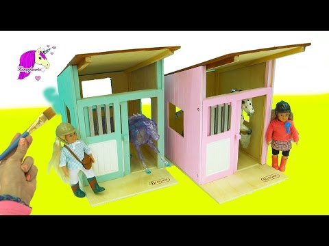 Paint & Create Your Dream Barn - Breyer Classic Horses Hilltop Stable Horse Video