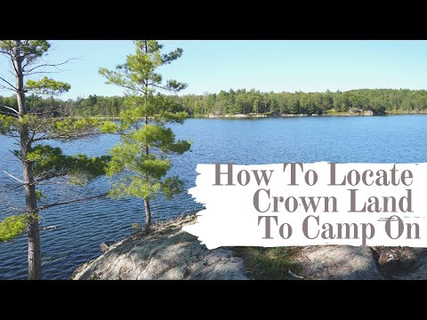 How To Locate Crown Land To Camp On