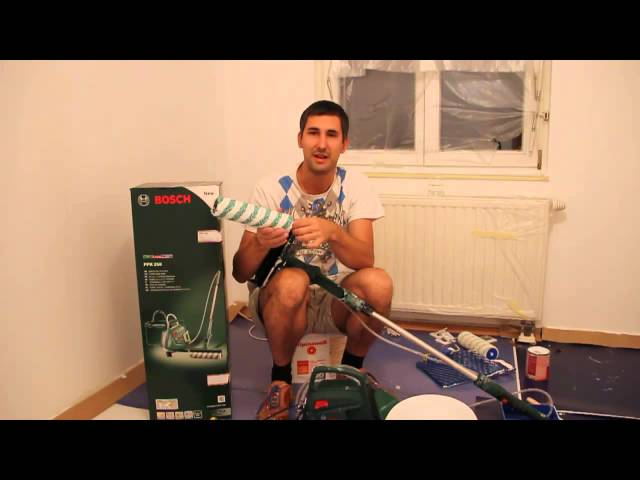 Bosch elektrischer farbroller ppr im test video