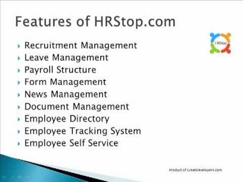 HRStop.com Presents HRMS (Human Resource Management System)
