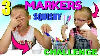 3 MARKER SQUISHY CHALLENGE!!!
