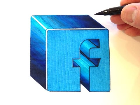 How to Draw the Facebook Logo in 3D
