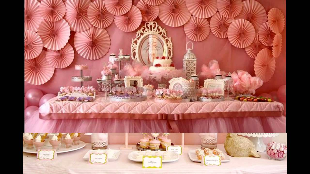 Baby Girl Birthday Party Themes Decorations At Home Youtube