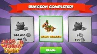 I got the Holly Dragon - Fight the Daily Dungeon - Gameplay - Dragon Mania Legends - part 726