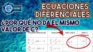 🤨¿Por qué no me da el mismo resultado de la constante de integración? | Valor inicial | ¡Muy básico!