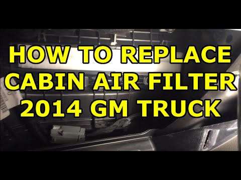 [HOW TO] Replace Your Cabin Air Filter – 2014-2018 GMC Sierra / Chevy Silverado (EASY)