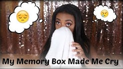 My Memory Box Made Me Cry ... | Opening My Box Filled With Memories