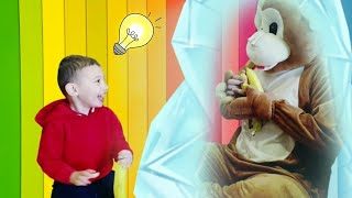 Tomy and Funny Monkey | Monkey Video for Kids | Kids pretend Play with Monkey