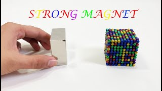 Playing with Big Strong Magnet | Slow motions  |Reverse | Magnet Cube