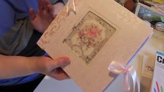 Album Scrap Mariage créé avec Wedding de Stamperia + explication concours
