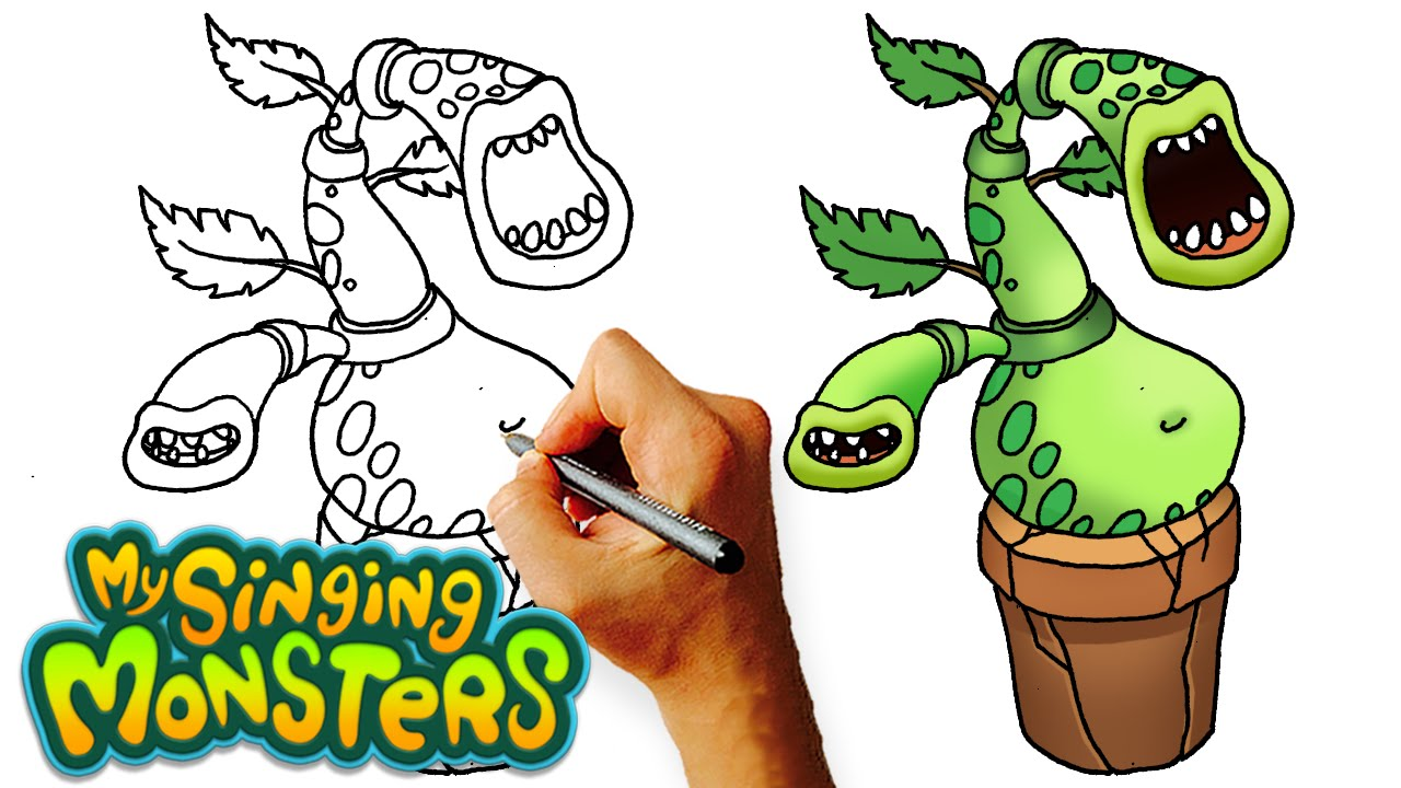 how to draw potbelly my singing monsters step by step kids art lesson youtube