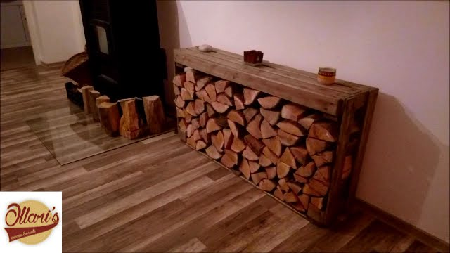 DIY // Firewood storage from Pallets - YouTube