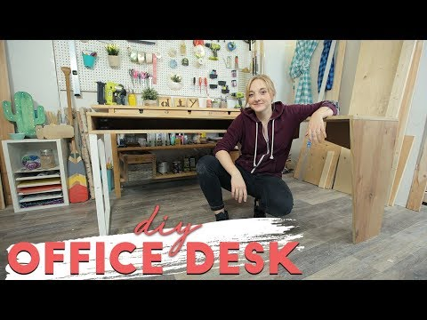 DIY L-Shape Desk made from 1 Sheet of Plywood!