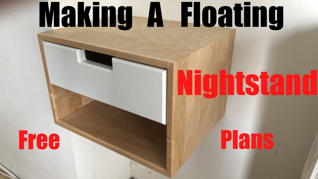 Making A Floating Nightstand Free Plans Diy How To