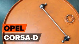 Гледайте видео ръководство за това как да заменете Комплект накладки на OPEL CORSA D