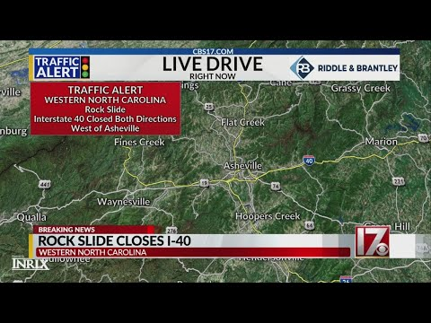 Rock slide closes highway in NC mountains