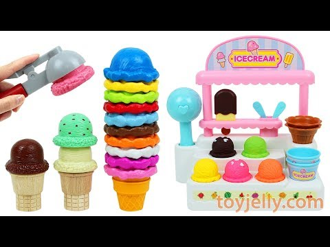 Ice Cream Cart Playset Fruits Strawberry Orange Apple Fridge