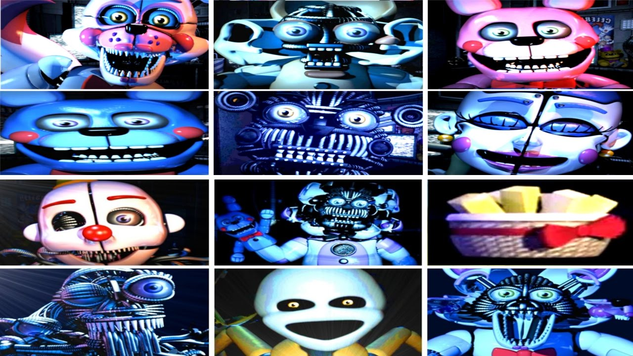 Download Five Nights at Freddy's: Sister Location All Jumpscares (COMPLETE!!)