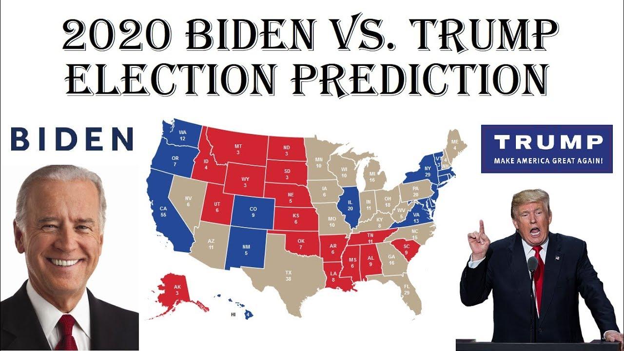 Joe Biden Vs Donald Trump 2020 Electoral Map Prediction Projecting