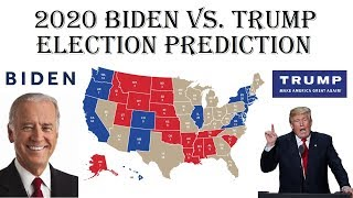 Joe Biden vs Donald Trump 2020 Electoral Map Prediction - Projecting 2020 Election Results