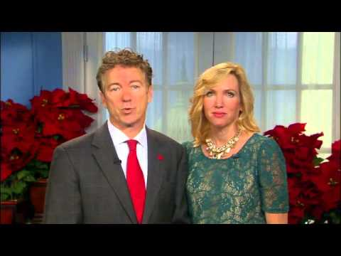 DR  RAND PAUL AND HIS TOTALLY SMOKIN`HOT WIFE KELLY WISH YOU MERRY CHRISTMAS