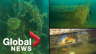 HMS Terror: New video from inside Arctic wreck reveals artifacts frozen in time