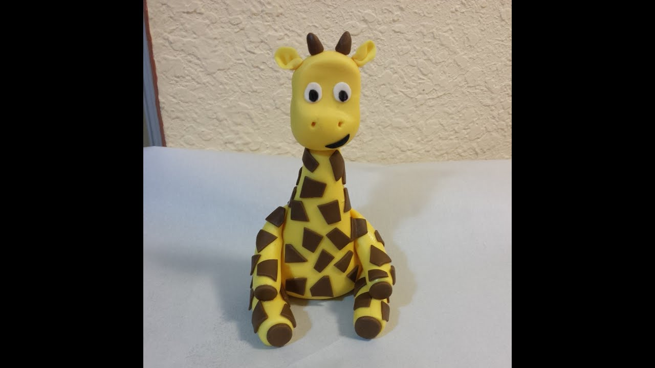 Fondant Giraffe Youtube