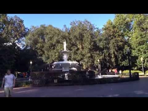 Stroll through Forsyth Park in Savannah, Georgia!