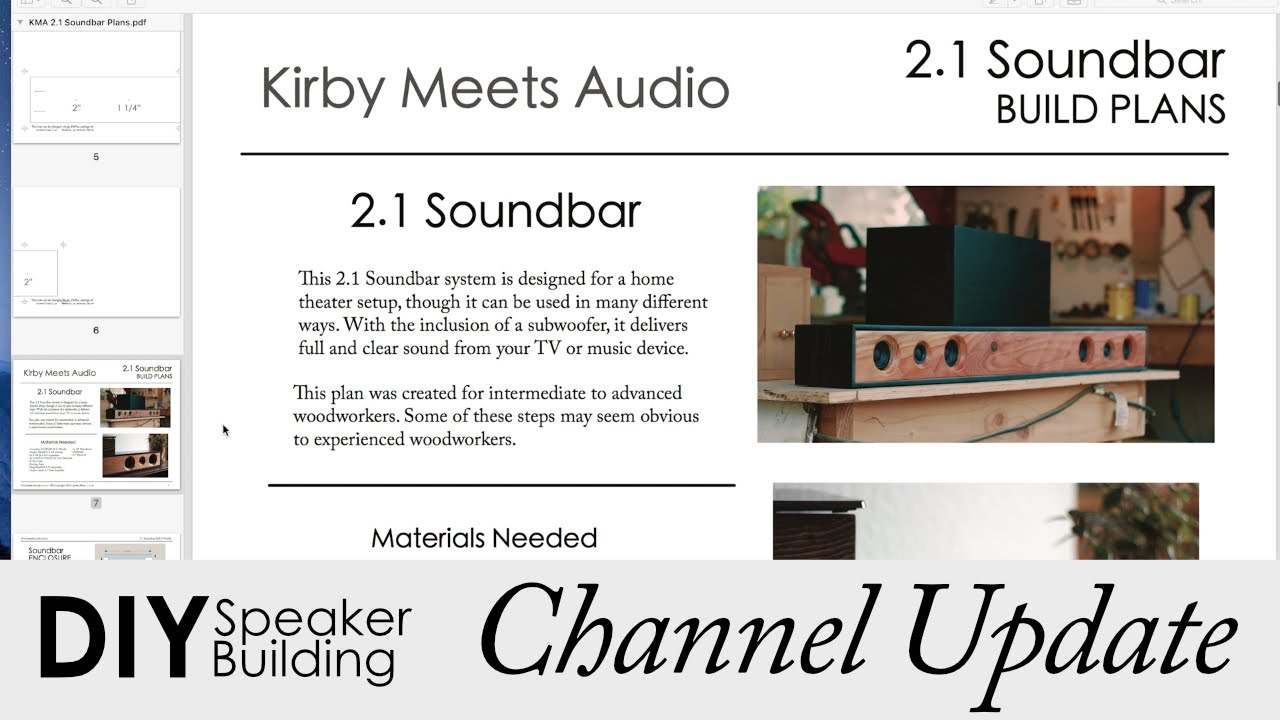 2 1 Soundbar Build Plans New Website And Other Channel Updates