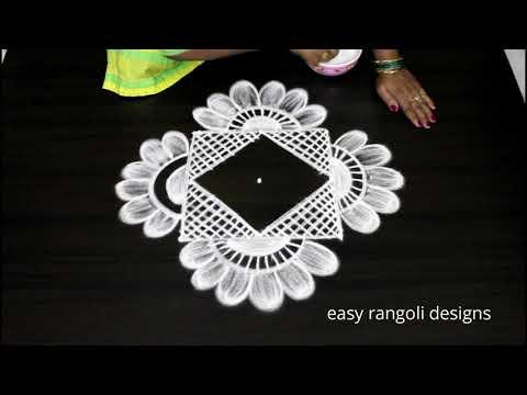 Beautiful festival kolam || easy n simple cute muggulu || latest rangoli