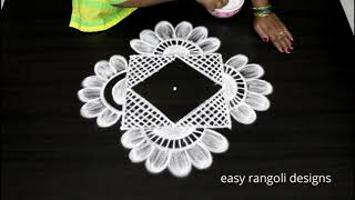 Beautiful festival kolam || easy n simple cute muggulu || latest rangoli