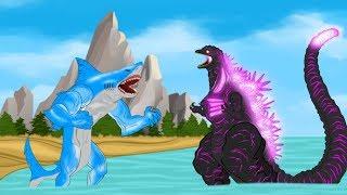 Evolution of Shark Attack vs Shin Godzilla: Size Comparison [HD]